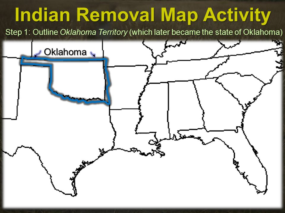 Indian Removal Map Activity - ppt video online download on indian wars map, civil war map, westward movement map, indian chief, homestead act map, war of 1812 map, indian territory, native american removal map, louisiana purchase map, stamp act map, indian appropriations act, indian claims commission map, indian reservations in georgia usa, the tea act map, dawes act map, treaty of guadalupe hidalgo map, chinese exclusion act map, alaska native claims settlement act map, indian cartoon,