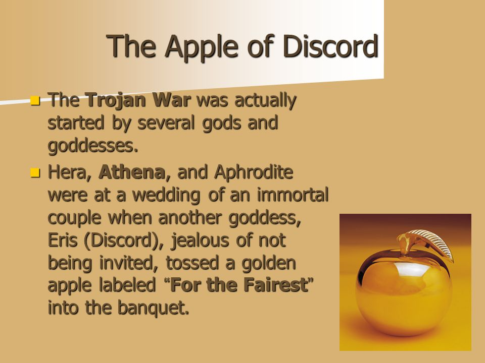 how did aphrodite started the trojan war