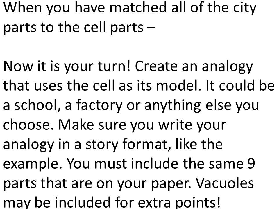 Label Your Paper With The Following Parts Of The Cell 1 Ppt Video