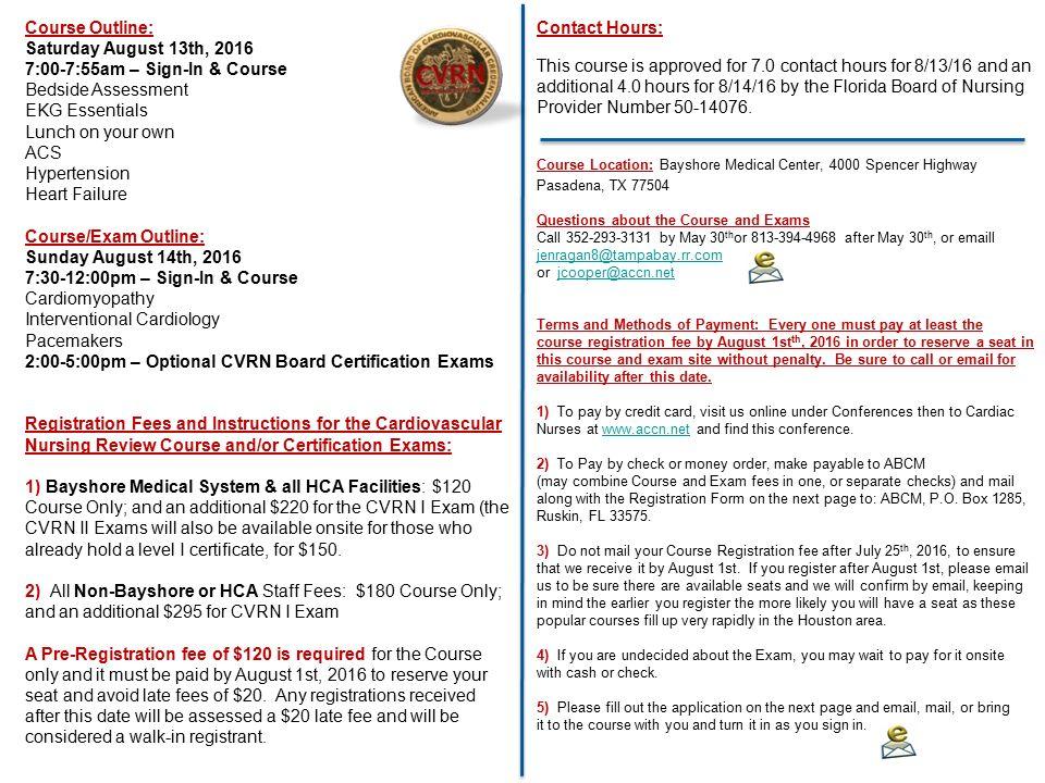 Cardiovascular Nursing Review Course & Board Certification ...