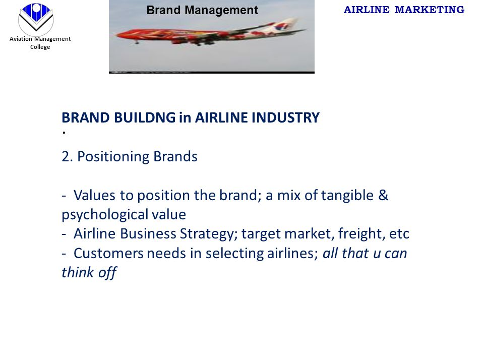 marketing in aviation industry