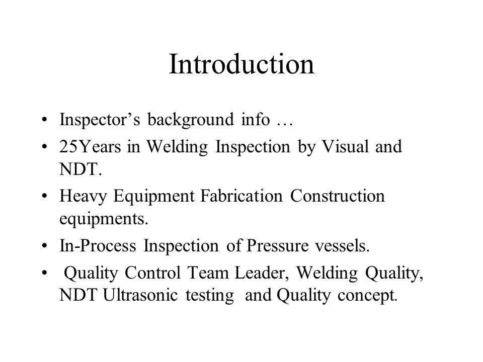 Welding and inspection - ppt video online download
