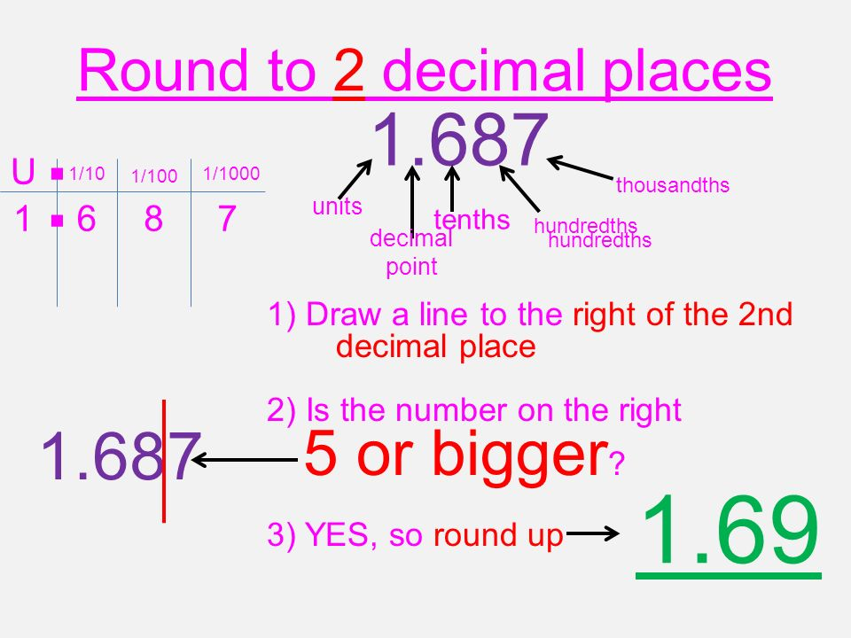 Rounding To 1,2 or 3 decimal places  - ppt video online download