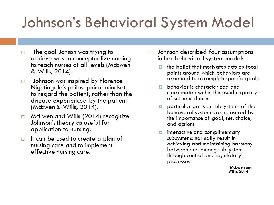 johnsons behavioral system model