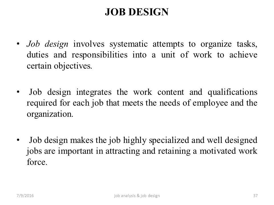 Job Analysis And Job Design Ppt Video Online Download
