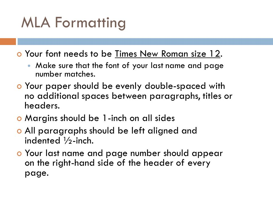 proper mla heading format