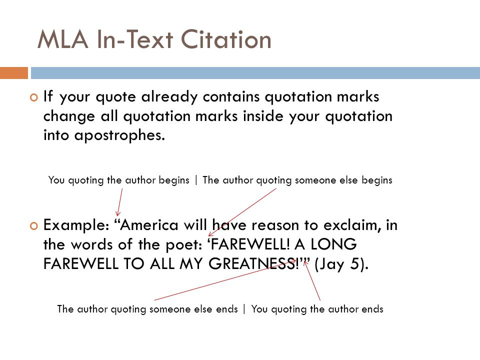 Mla Quote Citation Amazing MLA FORMATTING And CITATION Ppt Video Online Download