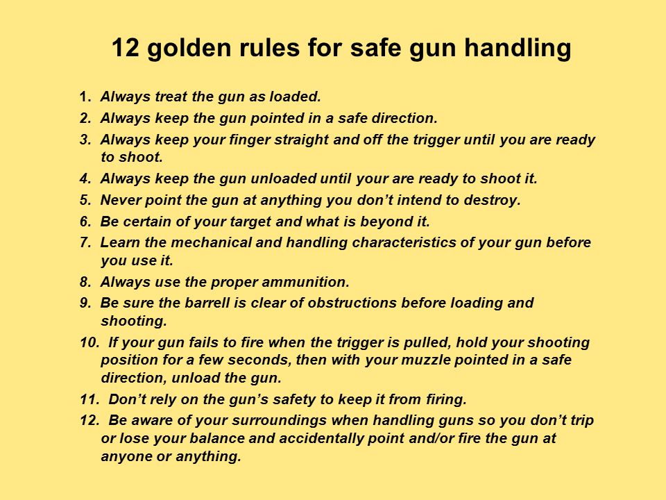 picture about Printable Gun Safety Rules identify Gun Protection, Gun Etiquette, and Gun Storage - ppt online video