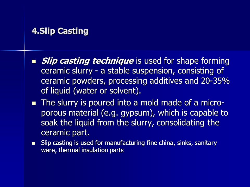 Ceramic powder Processing or Green Body Formation - ppt