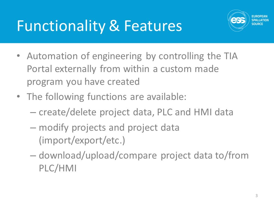 Siemens TIA Portal Openness Feature Functionality and