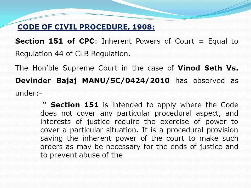 151 cpc petition