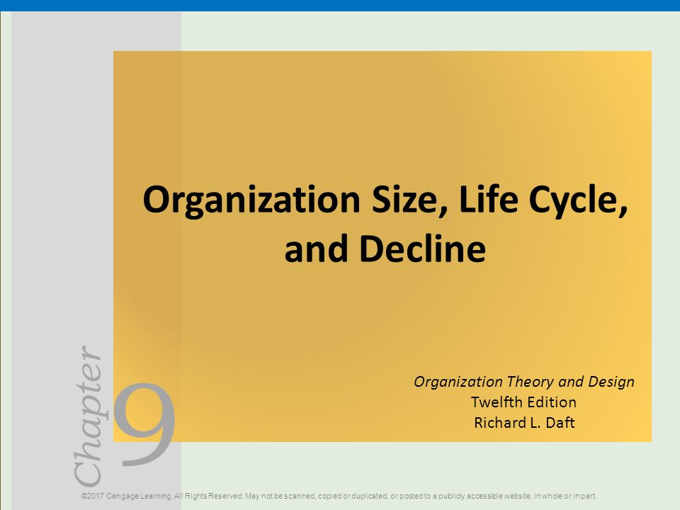 Organization Size Life Cycle And Decline Ppt Download