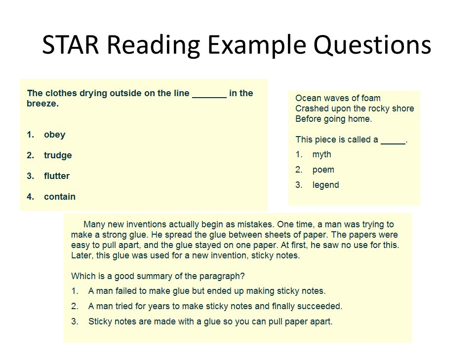 11 star reading example questions