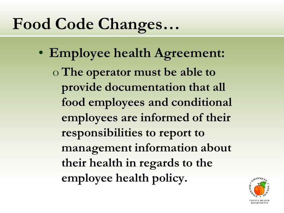 Georgia Food Code Changes Ppt Video Online Download