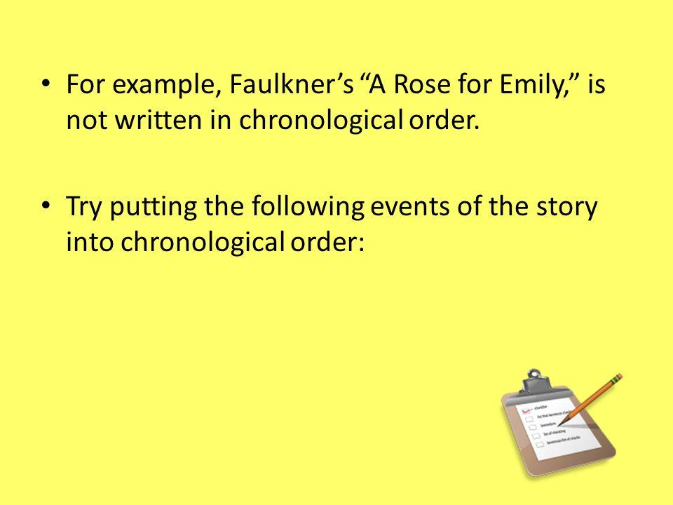 a rose for emily timeline