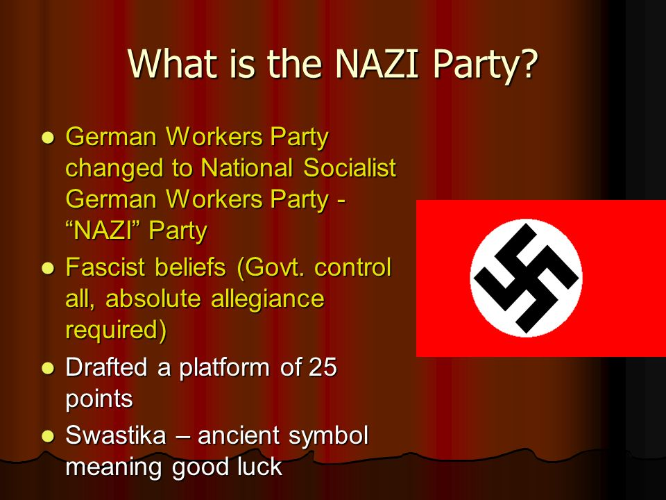 an analysis of the rise of the national socialist german workers party The nazi party (national socialist german workers' party - nsdap) grew out of the german workers' partythe nazi party came into being on 24th february 1920 its leader, adolf hitler, required the party to accept and adopt the'fuehrer principle.