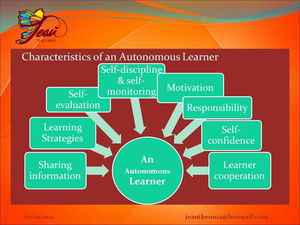 characteristics of autonomy