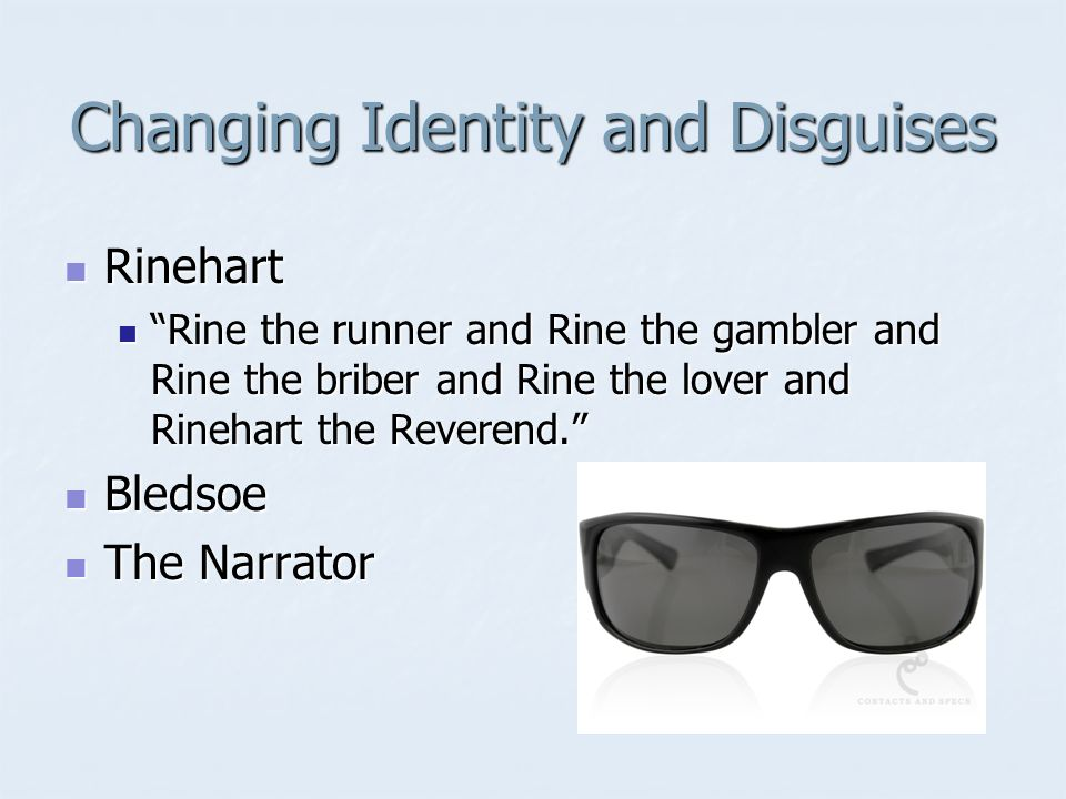 who is rinehart in invisible man