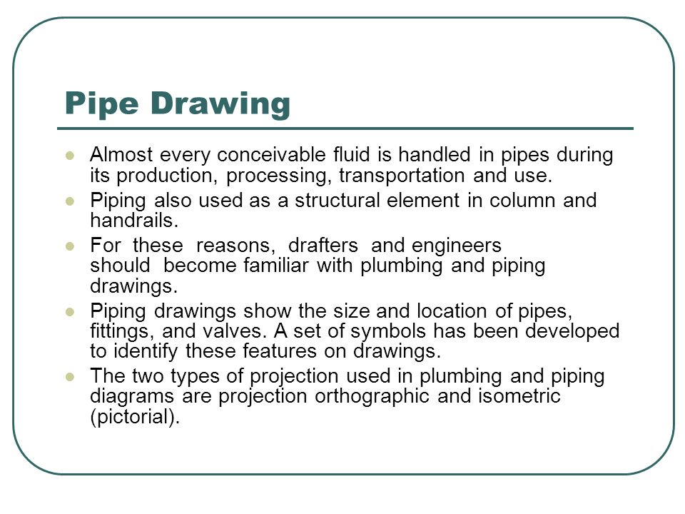 Piping Drafting & Drawing - ppt video online download