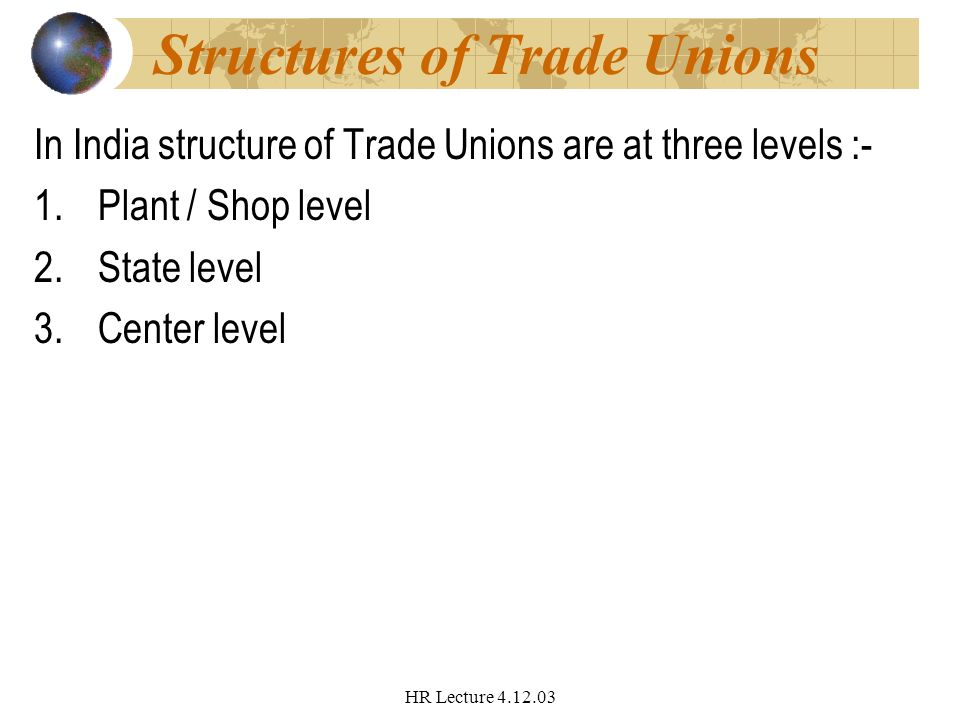 STRUCTURE OF TRADE UNION IN INDIA PDF