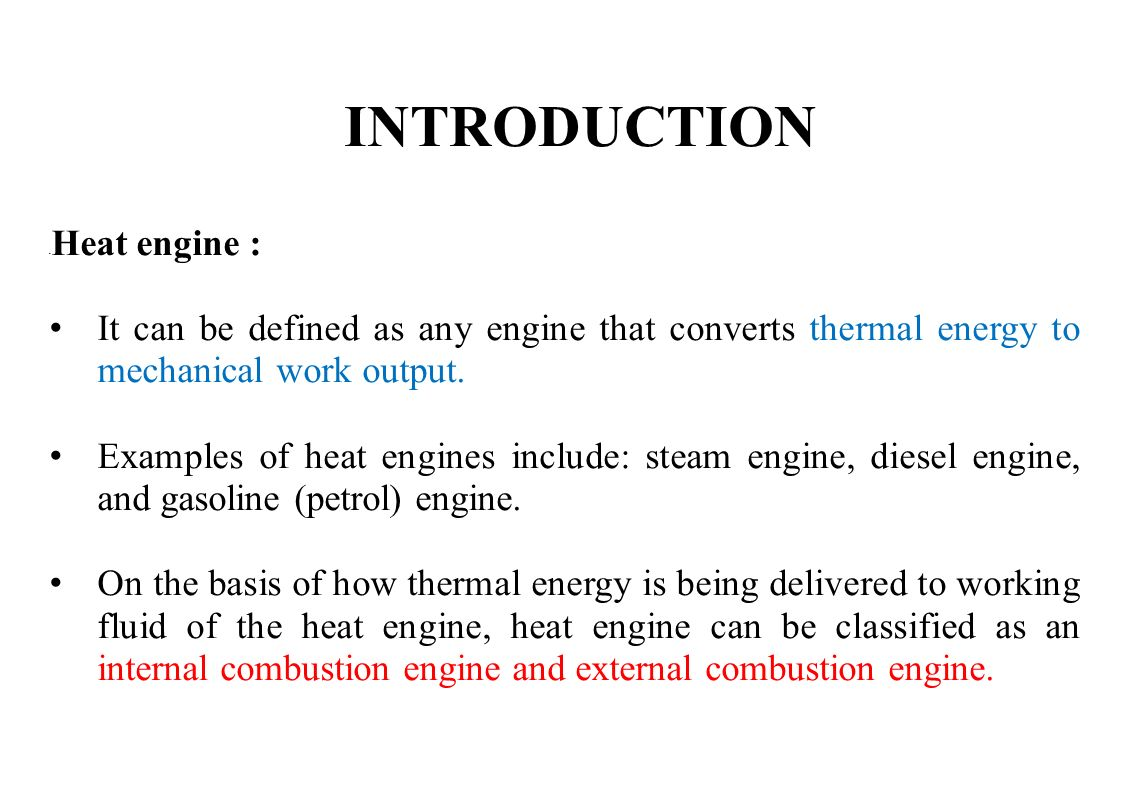 Lecture Ppt Download Internal Combustion Engine Block Diagram The Diesel Has Introduction Heat It Can Be Defined As Any That Converts Thermal Energy 5 Types Of Engines In An