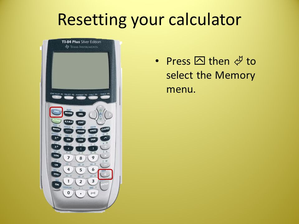 Introducing your TI-83/84 Plus Graphing Calculator - ppt