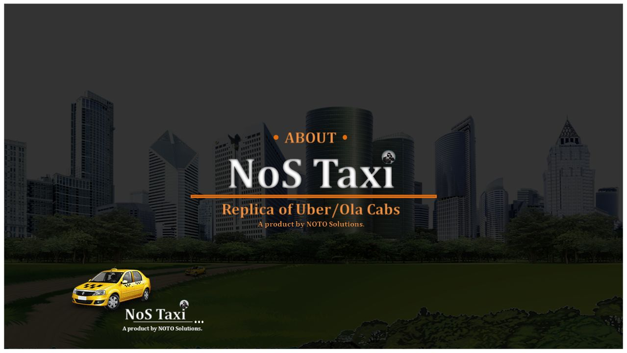 Replica of Uber/Ola Cabs A product by NOTO Solutions  - ppt video