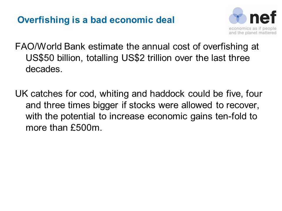 Overfishing is a bad economic deal