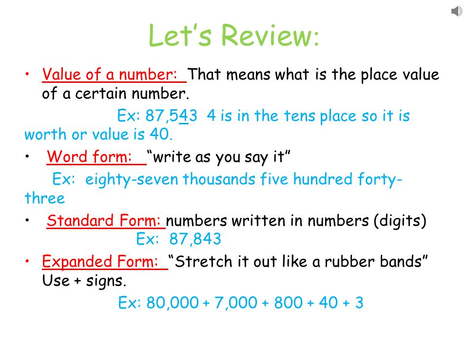 Understanding Numbers Ppt Download