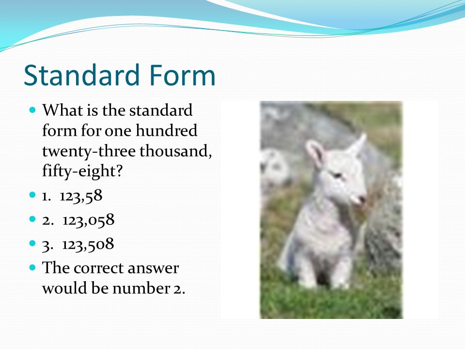 Forms Of Numbers Standard Form Expanded Form And Word Form Ppt