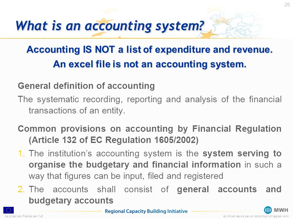 What is an accounting system