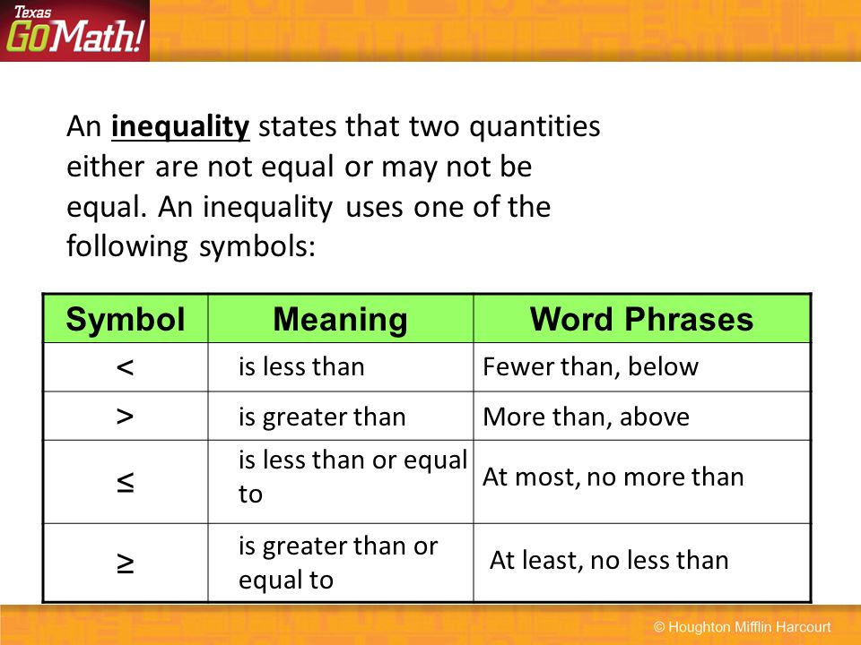131 Writing Inequalities How Can You Use Inequalities To Represent