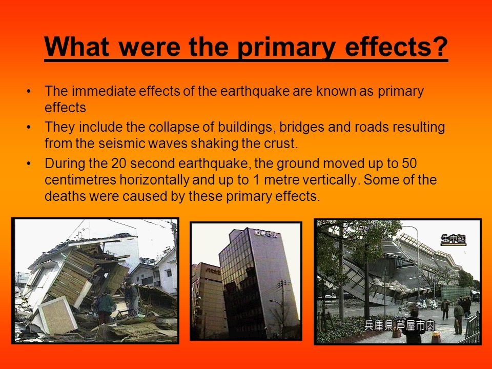 what are effects of an earthquake