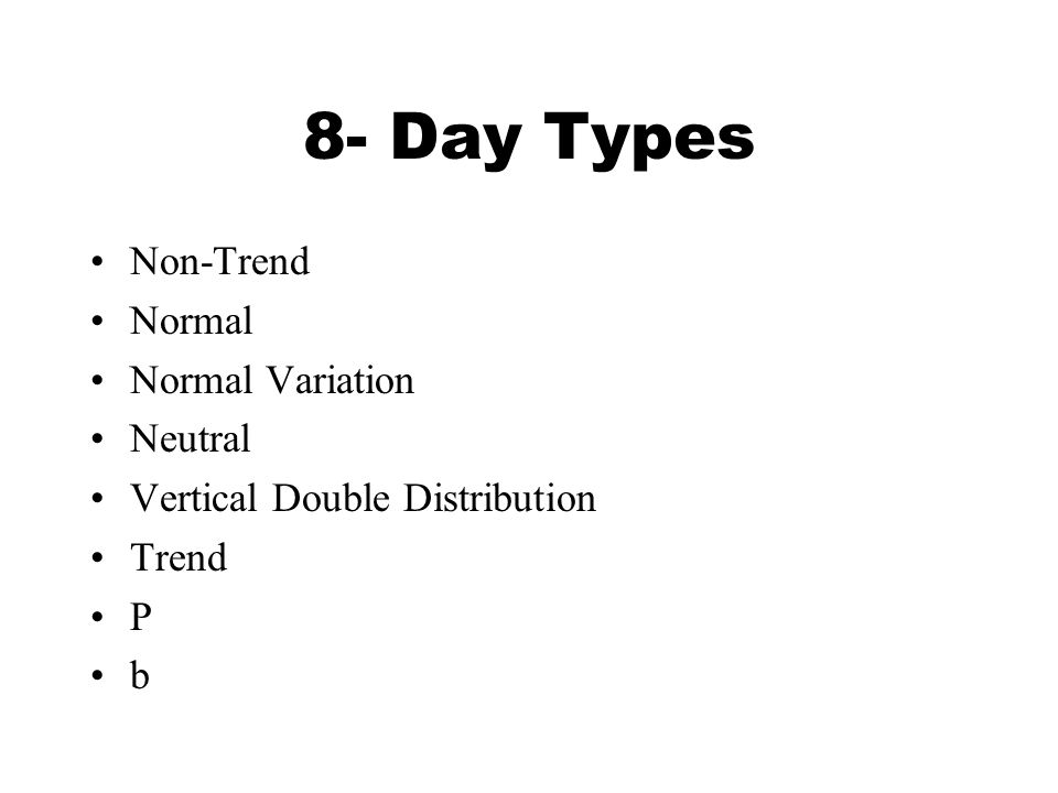 The Eight Market Profile Day Types - ppt download