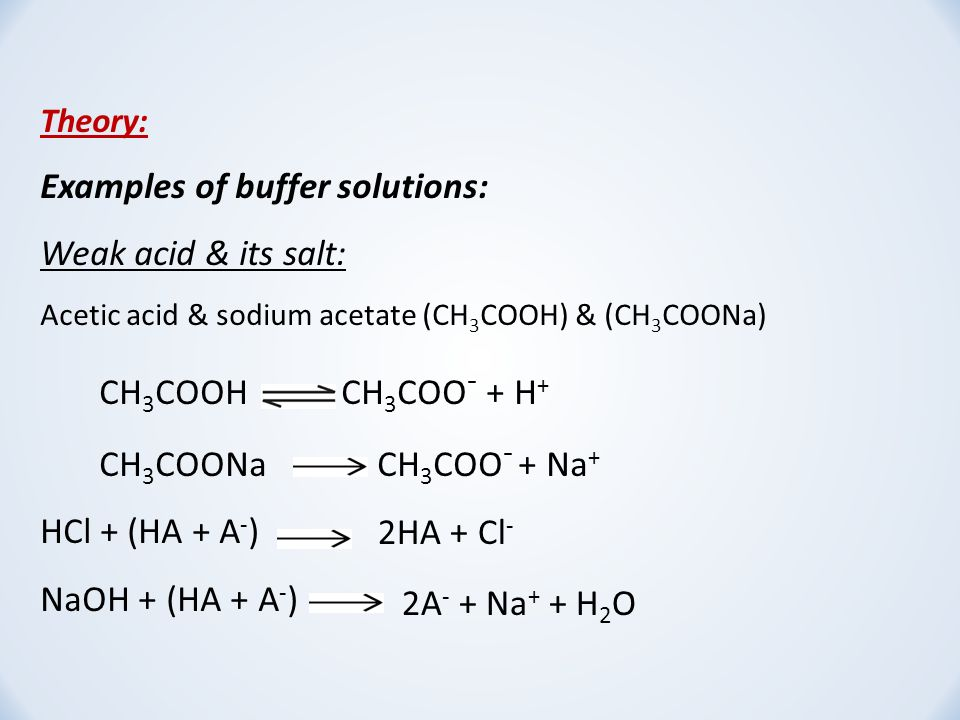 preparation of buffer and solution The preparation of buffers and other solutions 33 concentration or buffer capacity choosing the appropriate buffer concentration can be a little.