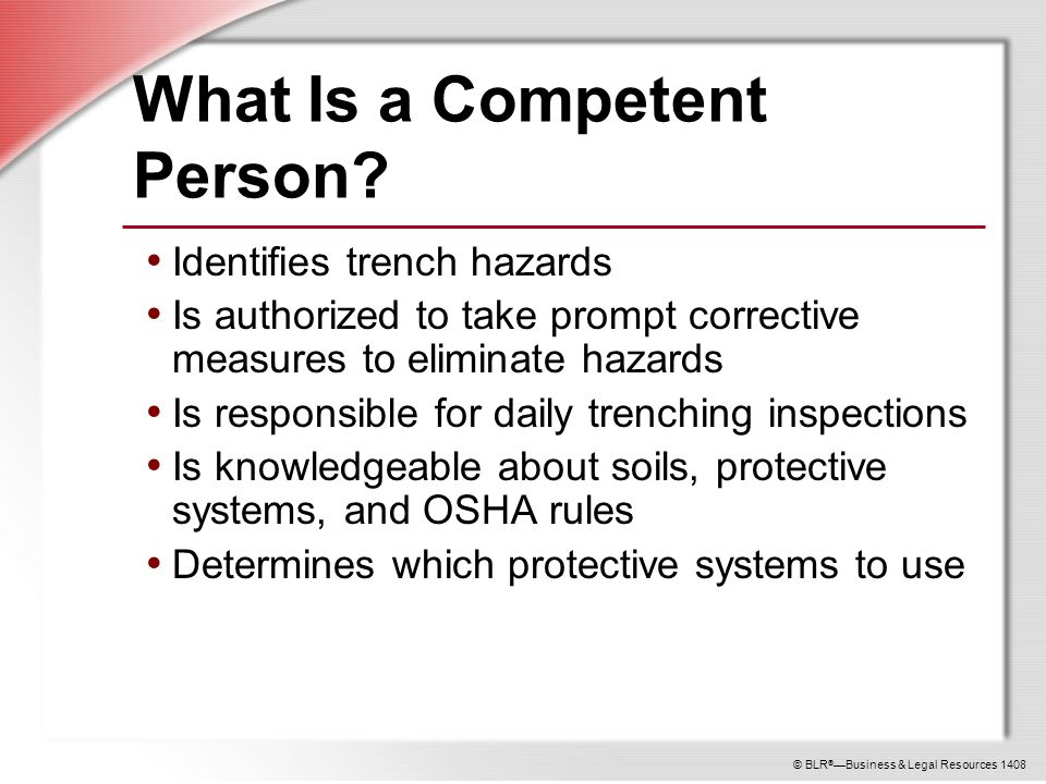 Trenching Competent Person Ppt Download