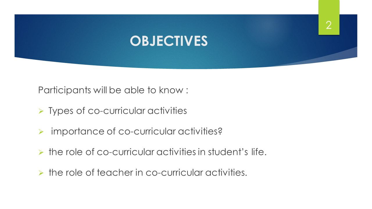 types of co curricular activities