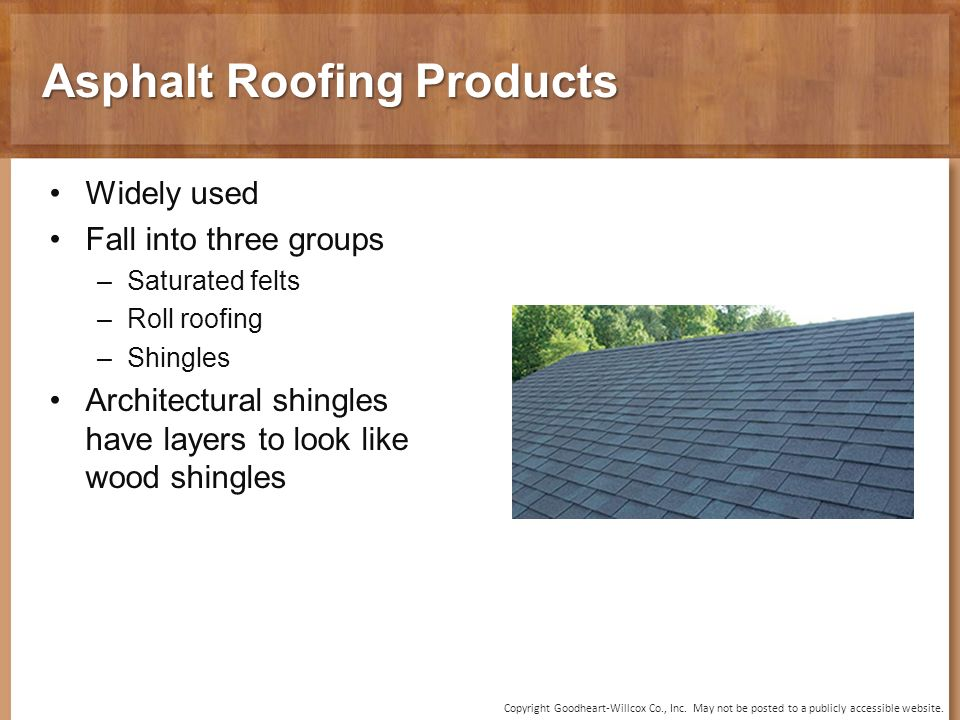 14 Chapter Roofing Materials and Methods  14 Chapter Roofing