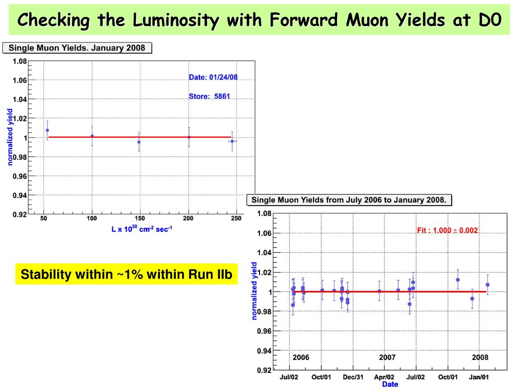 Checking the Luminosity with Forward Muon Yields at D0