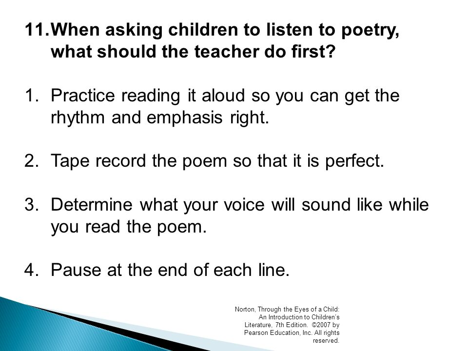 Chapter 8 Poetry Guiding Questions: