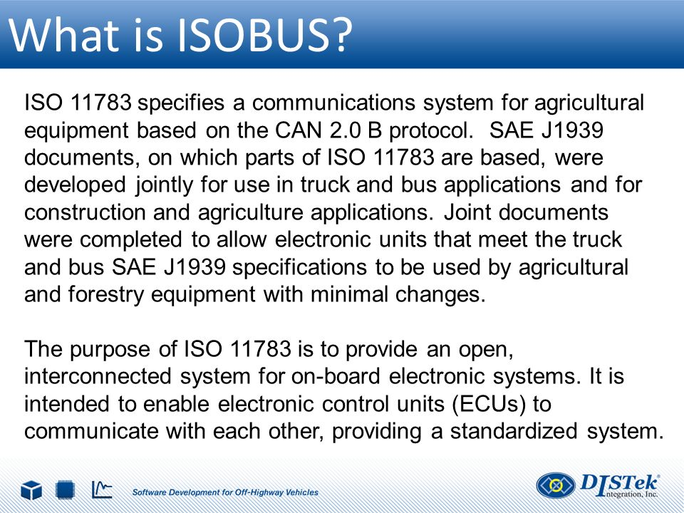 Introduction to ISOBUS for Engineers - ppt download