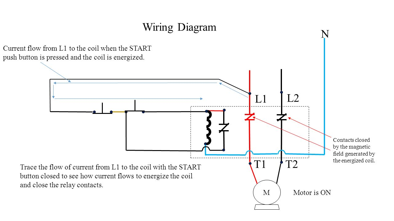 Push Button Station And Relay Ppt Video Online Download Wiring Schematic N M Diagram Current Flow From L1 To