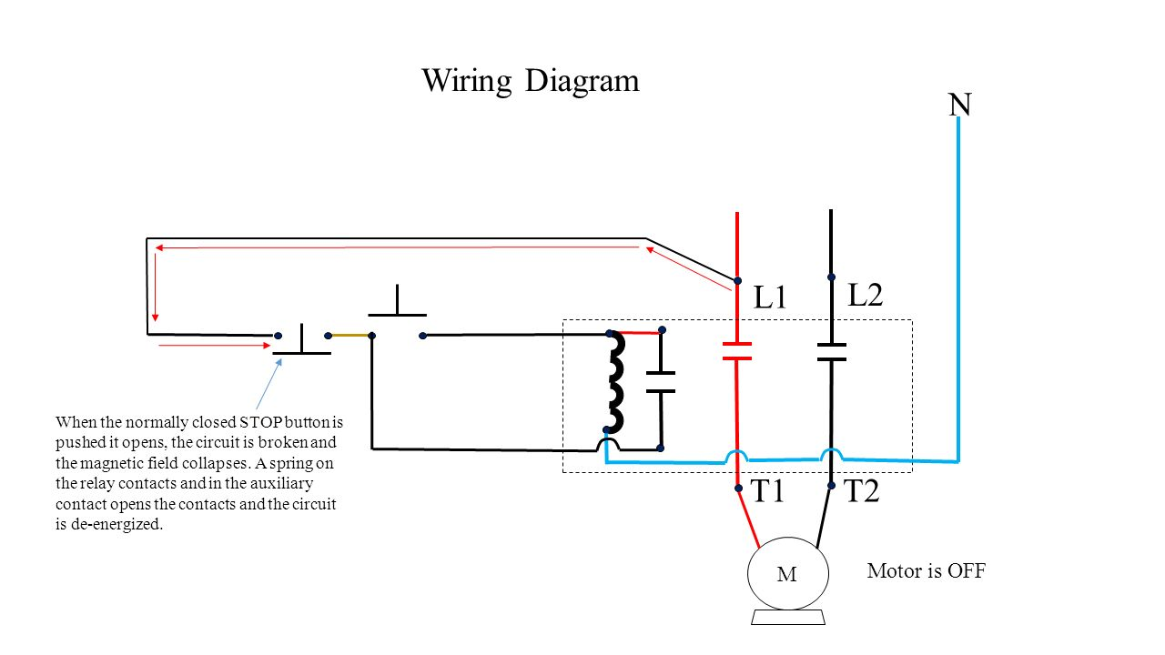 Push button station and relay ppt video online download l1 l2 t1 t2 wiring diagram n motor is off m cheapraybanclubmaster Gallery