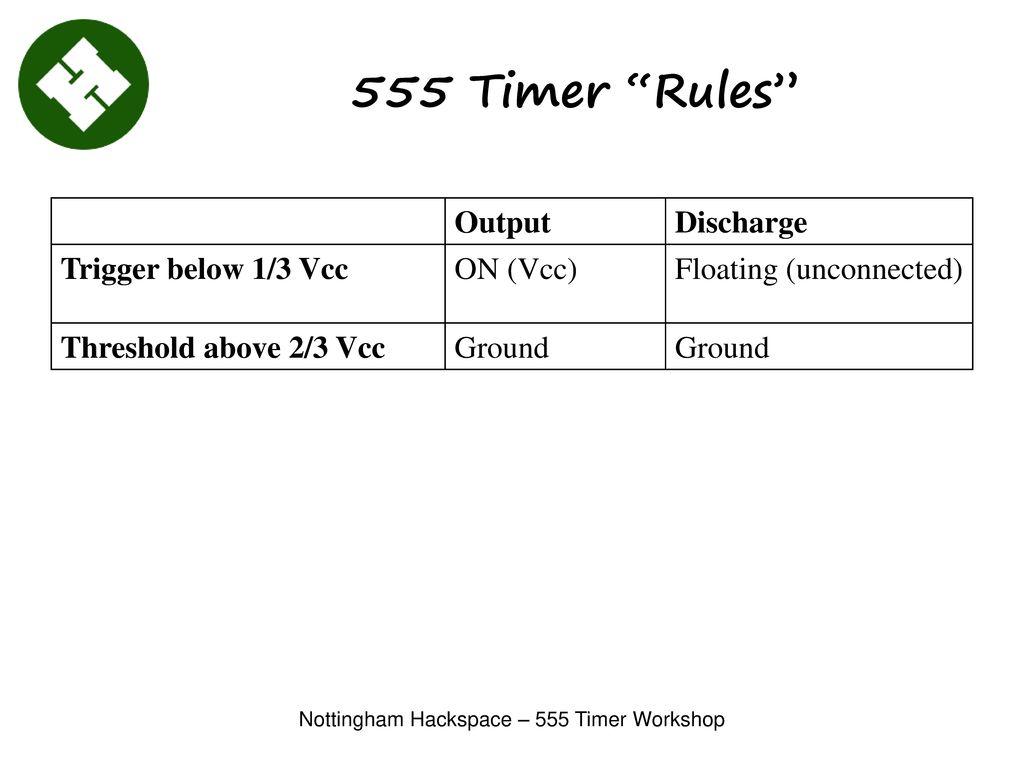 Nottingham Hackspace 555 Timer Workshop Ppt Download Trigger