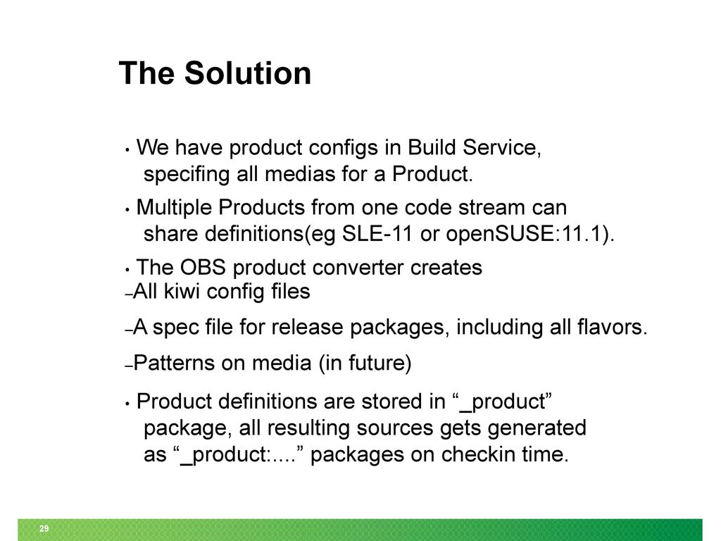 Open Build Service (OBS) Project Workshop - ppt download
