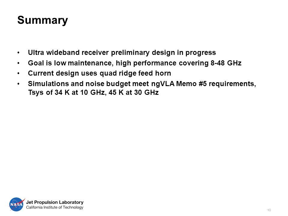 ngVLA/North America Array JPL Ultra Wideband Receiver Progress - ppt