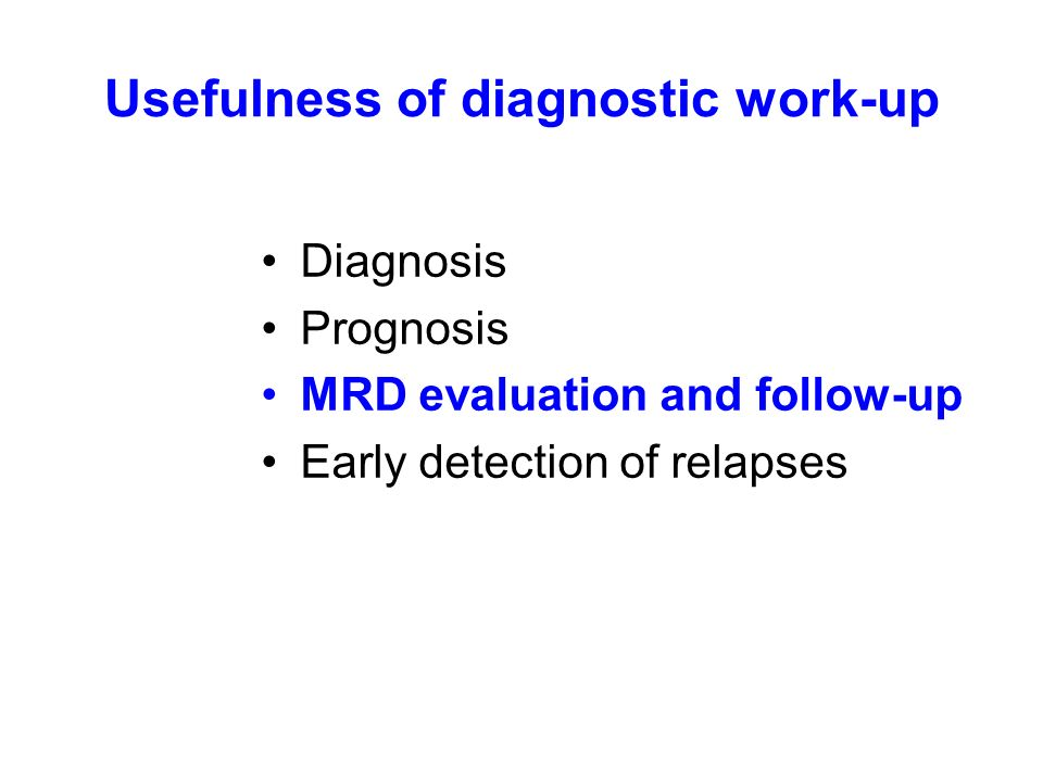Usefulness of diagnostic work-up