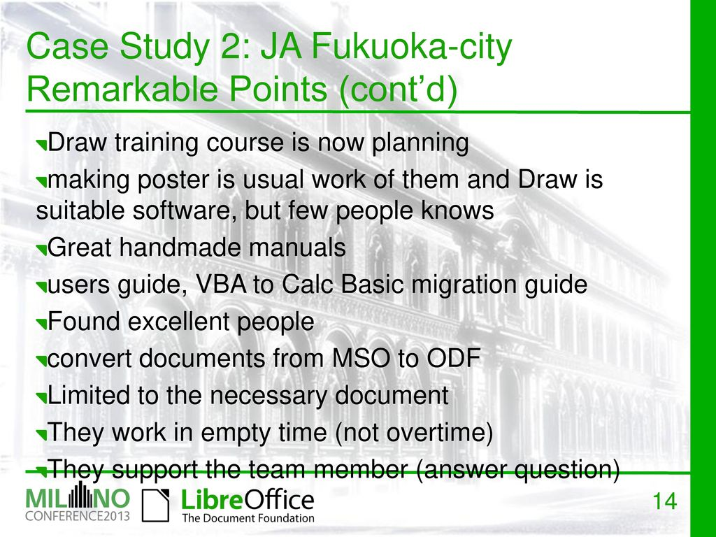 Case Studies of migration to LibreOffice in Japan - ppt download