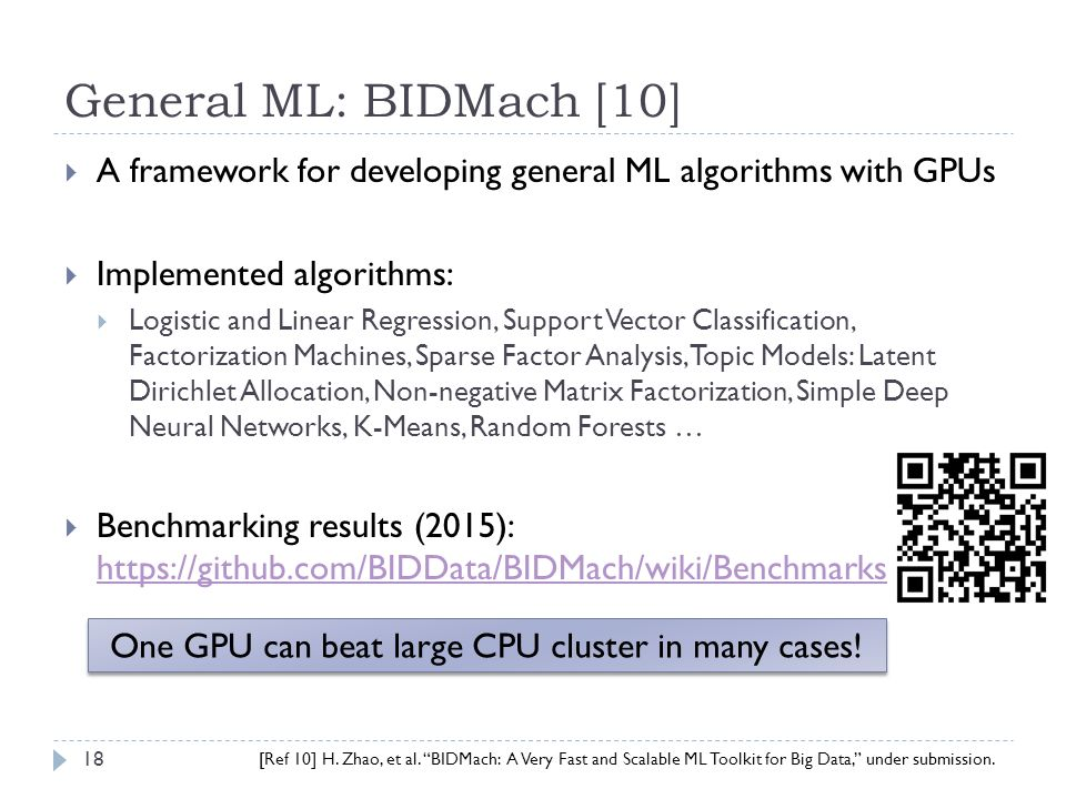 A Tale of Two Cities: GPU Computing and Machine Learning