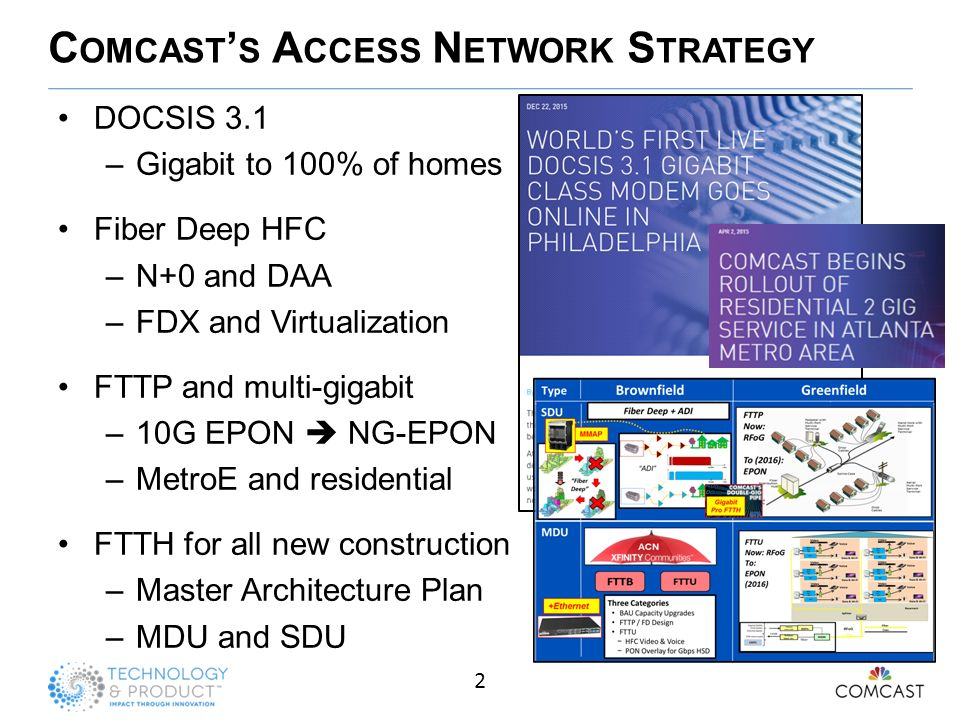 Comcast's Network Architecture - ppt video online download on